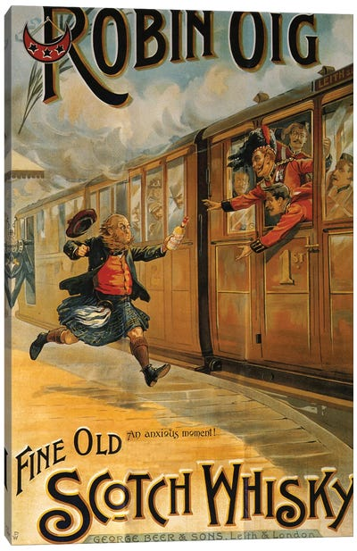 1898 Robin Oig Whisky Advert Canvas Art Print