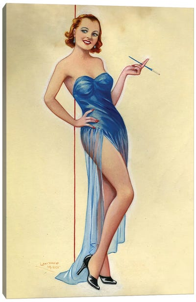 1940s UK Pinup Poster Canvas Art Print