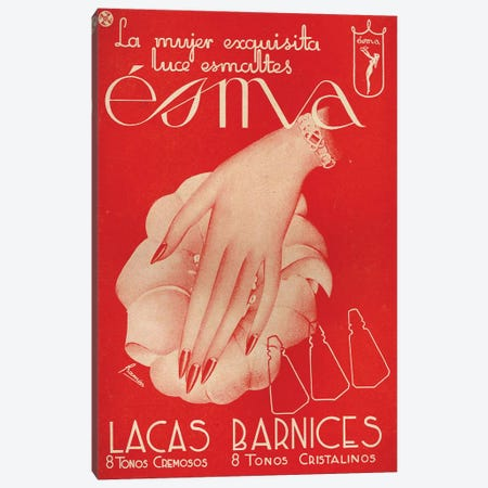 1941 Spain Esma Cosmetics Magazine Advert Canvas Print #TAA405} by The Advertising Archives Canvas Wall Art