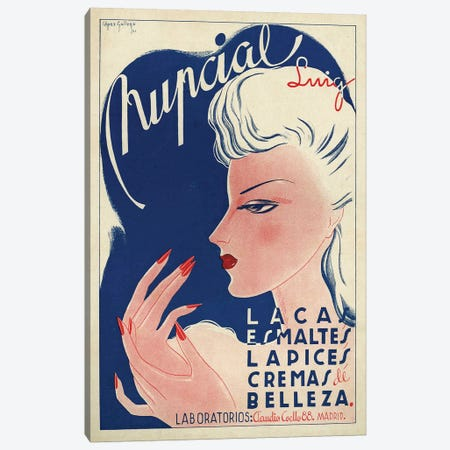 1942 Spain Nupcial Cosmetics Magazine Advert Canvas Print #TAA406} by The Advertising Archives Canvas Artwork