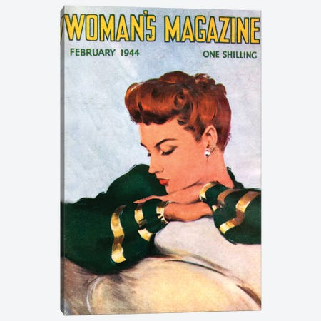 1944 Woman's Magazine Cover Canvas Print #TAA407} by The Advertising Archives Canvas Wall Art