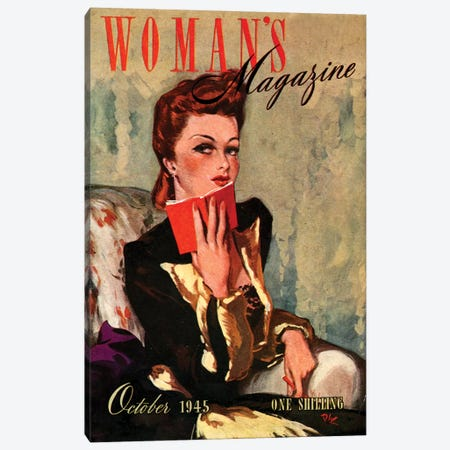 1945 UK Woman's Magazine Cover Canvas Print #TAA408} by The Advertising Archives Canvas Art Print