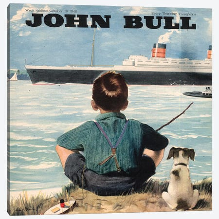 1946 John Bull Magazine Cover Canvas Print #TAA409} by The Advertising Archives Canvas Print