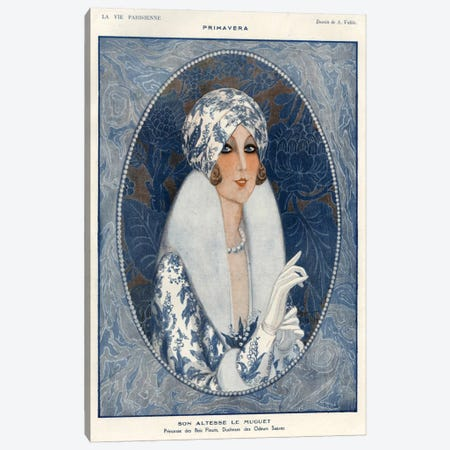 1920s La Vie Parisienne Magazine Plate Canvas Print #TAA40} by The Advertising Archives Art Print