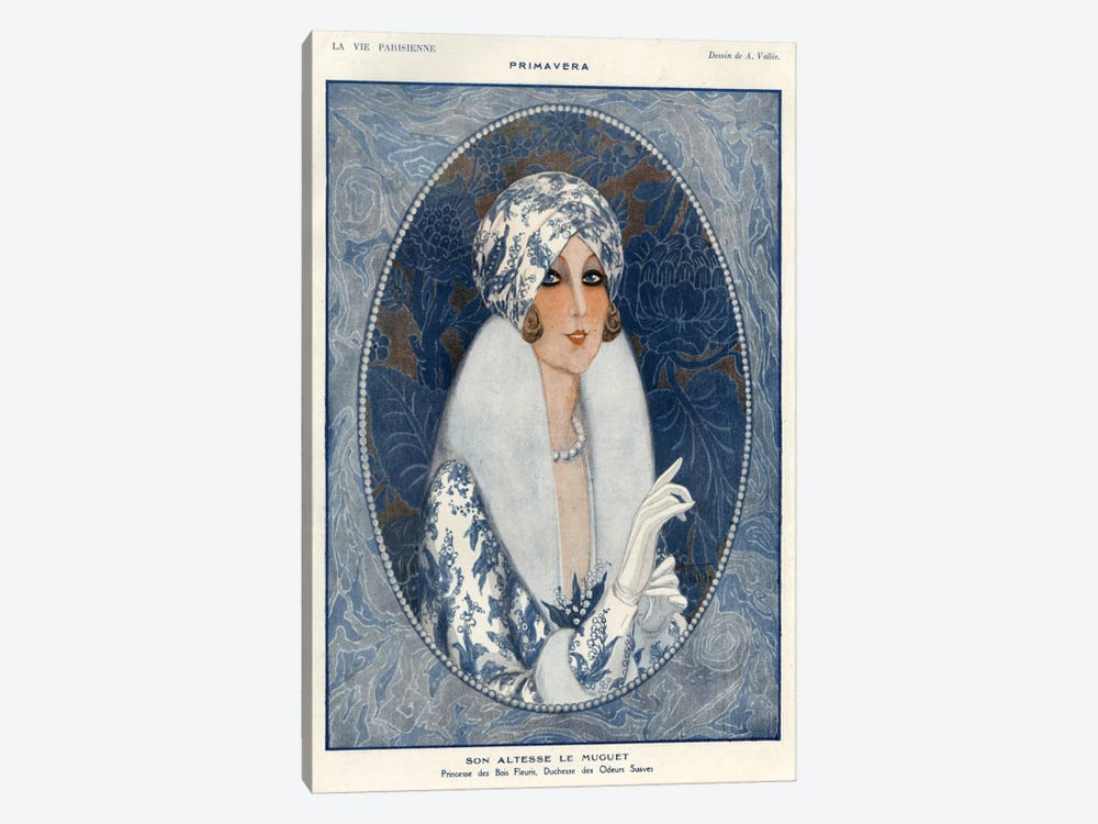 1920s La Vie Parisienne Magazine Plate by The Advertising Archives 1-piece Canvas Art Print