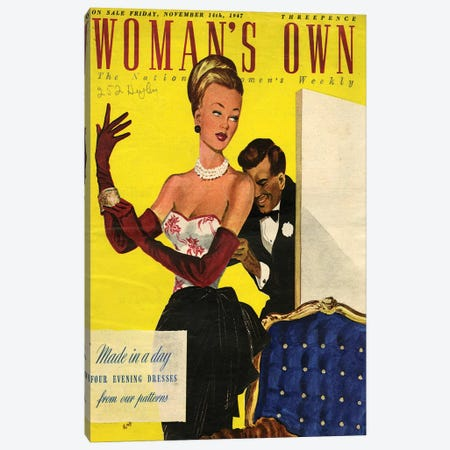 1947 UK Woman's Own Magazine Cover Canvas Print #TAA414} by The Advertising Archives Canvas Print