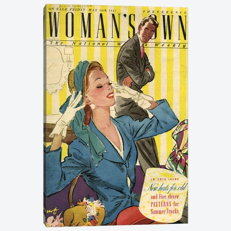1947 UK Woman's Own Magazine Cover Canvas Print #TAA415} by The Advertising Archives Canvas Art Print