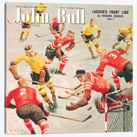 1949 John Bull Magazine Cover Canvas Print #TAA419} by The Advertising Archives Canvas Artwork