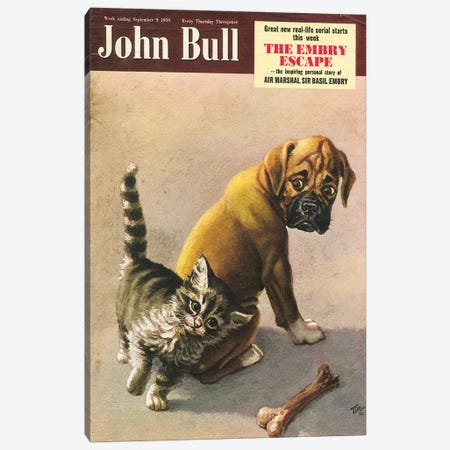 1950s John Bull Magazine Cover Canvas Print #TAA427} by The Advertising Archives Canvas Art