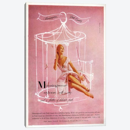 1950s Munsingwear Magazine Advert Canvas Print #TAA428} by The Advertising Archives Art Print