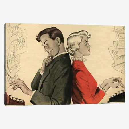 1951 UK Story Illustrations Magazine Plate Canvas Print #TAA436} by Martin May Art Print