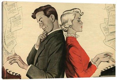 1951 UK Story Illustrations Magazine Plate Canvas Art Print