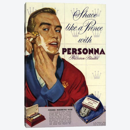 1953 Personna Shaving Magazine Advert Canvas Print #TAA441} by The Advertising Archives Art Print