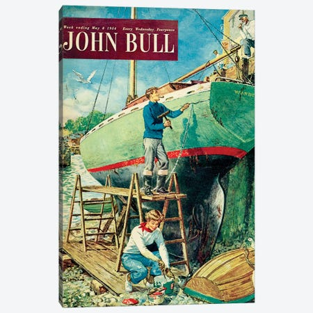 1954 John Bull Magazine Cover Canvas Print #TAA444} by The Advertising Archives Canvas Art
