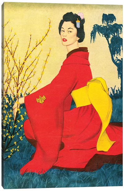 1954 John Bull Magazine Plate Canvas Art Print