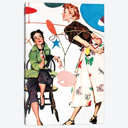 1954 Woman Magazine Plate Canvas Print #TAA447} by The Advertising Archives Canvas Wall Art