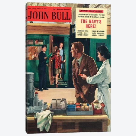 1955 John Bull Magazine Cover Canvas Print #TAA449} by The Advertising Archives Art Print