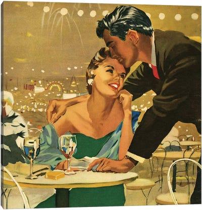 1955 UK Magazine Plate Canvas Art Print