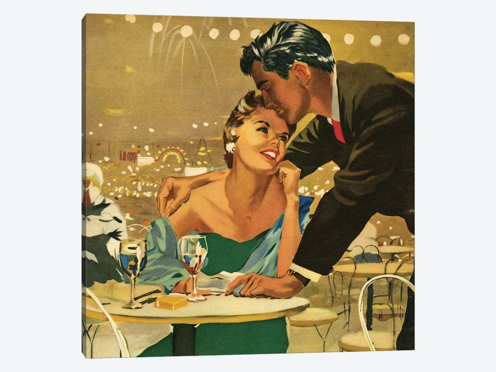 1955 UK Magazine Plate by Joe De Mers 1-piece Canvas Artwork