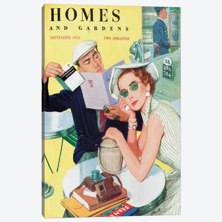 1956 Homes And Gardens Magazine Cover Canvas Print #TAA454} by The Advertising Archives Canvas Art Print