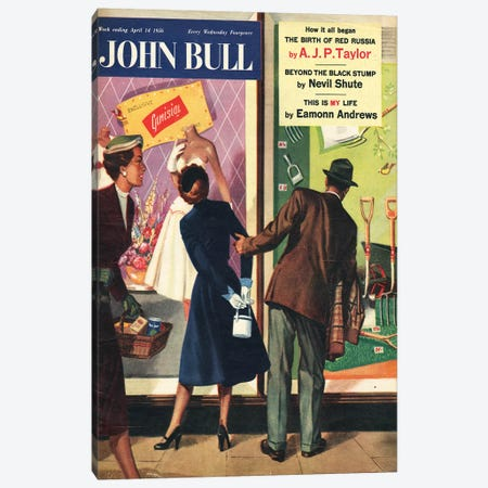 1956 John Bull Magazine Cover Canvas Print #TAA455} by The Advertising Archives Canvas Art Print