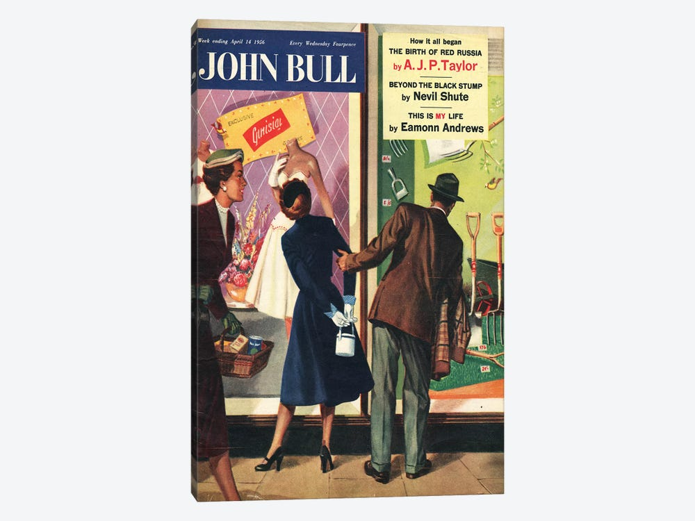 1956 John Bull Magazine Cover by The Advertising Archives 1-piece Canvas Art