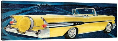 1957 Pontiac Magazine Advert Detail Canvas Art Print