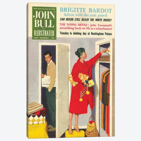 1958 John Bull Magazine Cover Canvas Print #TAA461} by The Advertising Archives Canvas Print