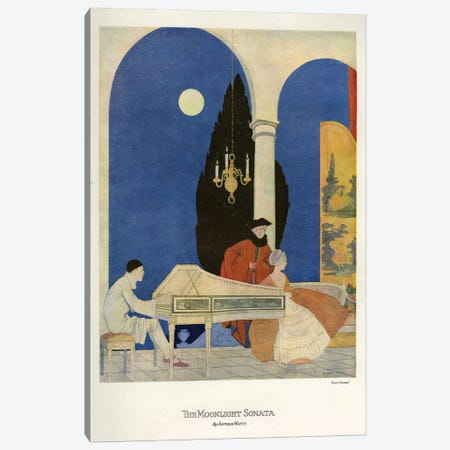 1920s The Moonlight Sonata Magazine Plate Canvas Print #TAA46} by The Advertising Archives Canvas Wall Art