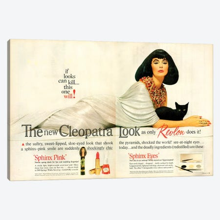 1962 Revlon Cosmetics Magazine Advert Canvas Print #TAA471} by The Advertising Archives Canvas Wall Art