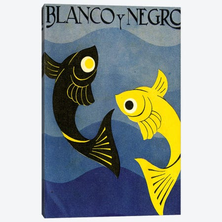 Blanco y Negro Magaine Cover Canvas Print #TAA476} by The Advertising Archives Canvas Art Print