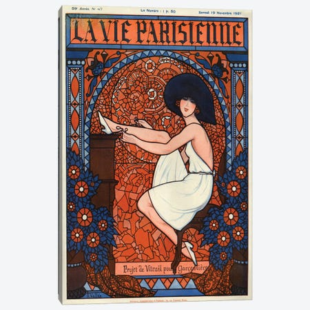 1921 La Vie Parisienne Magazine Cover Canvas Print #TAA48} by The Advertising Archives Canvas Print