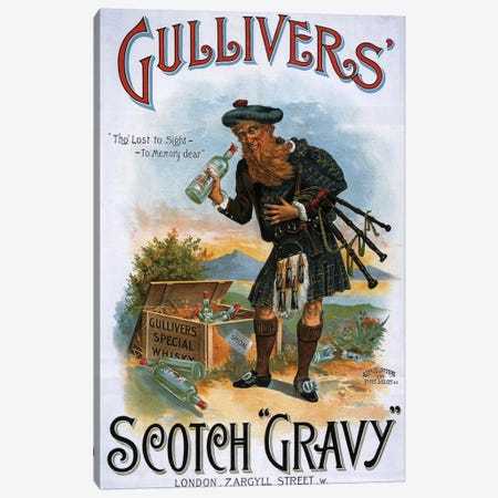 1899 Gulliver's Whisky Advert Canvas Print #TAA4} by The Advertising Archives Canvas Wall Art