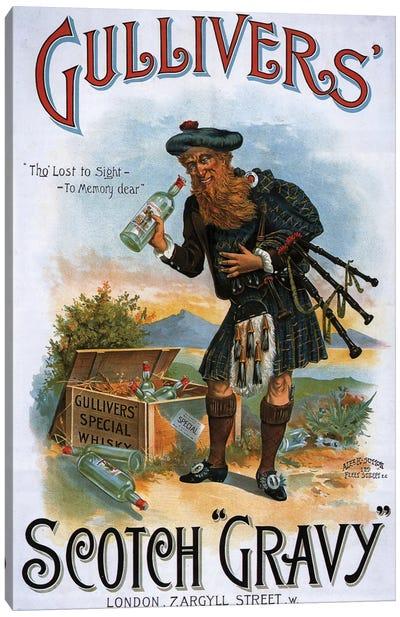 1899 Gulliver's Whisky Advert Canvas Art Print