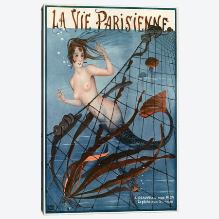 1921 La Vie Parisienne Magazine Cover Canvas Print #TAA50} by The Advertising Archives Canvas Artwork