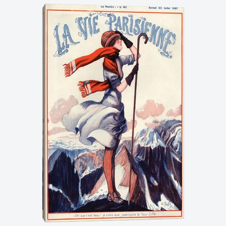 1921 La Vie Parisienne Magazine Cover Canvas Print #TAA51} by The Advertising Archives Canvas Artwork