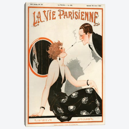 1921 La Vie Parisienne Magazine Cover Canvas Print #TAA52} by The Advertising Archives Canvas Artwork