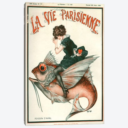 1921 La Vie Parisienne Magazine Cover Canvas Print #TAA53} by The Advertising Archives Canvas Art