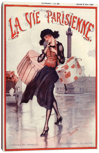 1921 La Vie Parisienne Magazine Cover Canvas Art Print