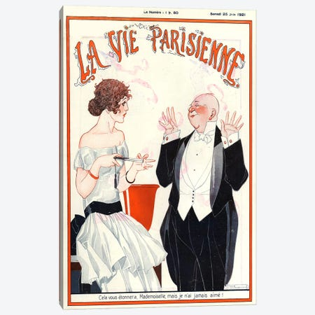 1921 La Vie Parisienne Magazine Cover Canvas Print #TAA55} by The Advertising Archives Canvas Art Print