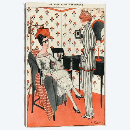 1921 La Vie Parisienne Magazine Plate Canvas Print #TAA57} by The Advertising Archives Canvas Art Print