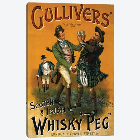 1899 Gulliver's Whisky Advert Canvas Print #TAA5} by The Advertising Archives Canvas Wall Art