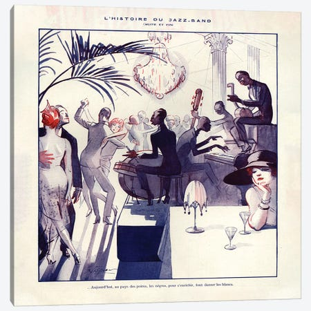 1921 La Vie Parisienne Magazine Plate Canvas Print #TAA60} by The Advertising Archives Canvas Print