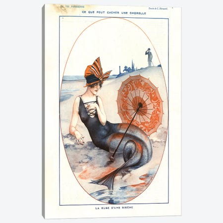 1921 La Vie Parisienne Magazine Plate Canvas Print #TAA62} by The Advertising Archives Canvas Print