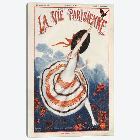 1922 La Vie Parisienne Magazine Cover Canvas Print #TAA63} by Armand Vallee Art Print