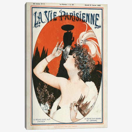 1922 La Vie Parisienne Magazine Cover Canvas Print #TAA64} by Cheri Herouard Canvas Wall Art