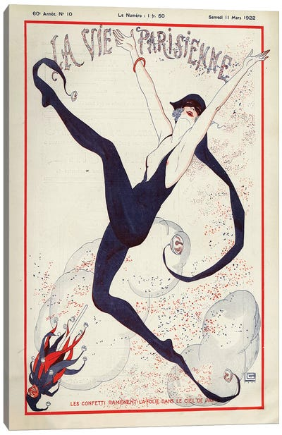 1922 La Vie Parisienne Magazine Cover Canvas Art Print