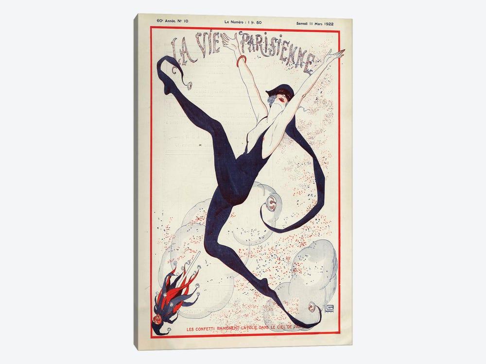 1922 La Vie Parisienne Magazine Cover by Georges Leonnec 1-piece Canvas Art