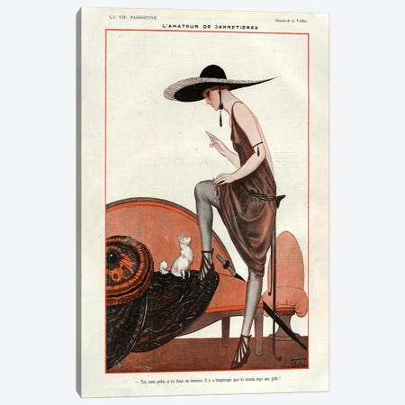 1922 La Vie Parisienne Magazine Plate Canvas Print #TAA67} by Armand Vallee Canvas Artwork
