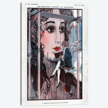 1922 La Vie Parisienne Magazine Plate Canvas Print #TAA69} by Leo Fontan Canvas Print